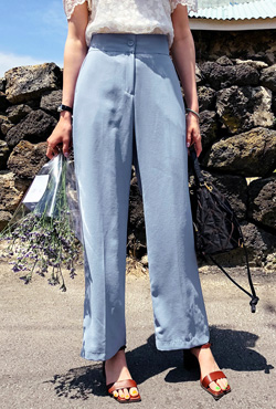 Straight Cut Loose Fit Slacks