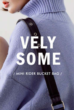 [VELYSOME] No,18 Mini Rider Bucket Bag