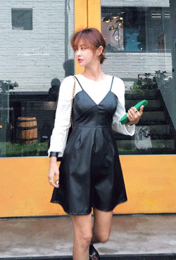 Leatherette Bustier Dress