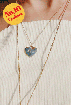 [V,Collect] No,10 Engraved Heart Necklace