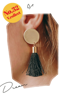 [V,Collect] No,32 Tassel Disc Earrings
