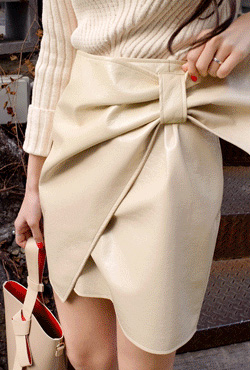 Big Bow Wrap Skirt
