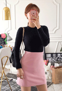 Basic Pink Mini Skirt