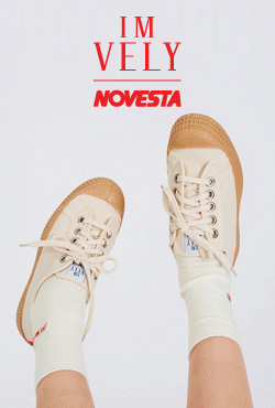 [IMVELY X NOVESTA] Rubber-Soled Canvas Sneakers