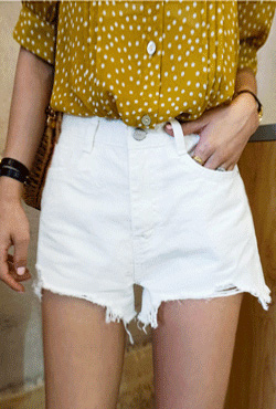High-Waist Frayed Cutoff Shorts