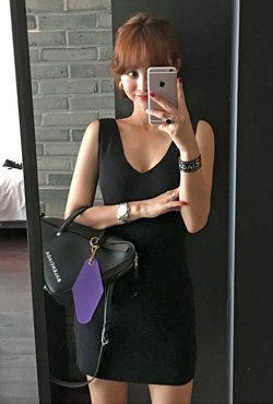 Low-Necked Sleeveless Dress