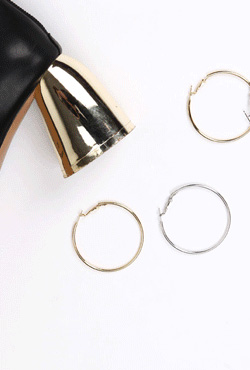 Slim Hinged Hoop Earrings