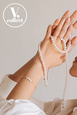 [V,Collect] Faux Pearl Toggle Necklace