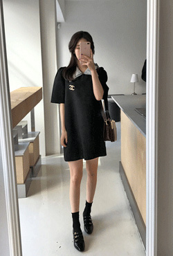 Lace Collar Shift Dress