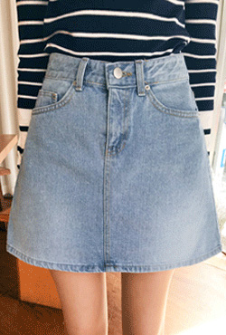A-Line Mini Denim Skirt