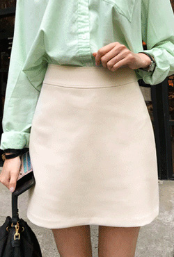 Solid Tone H-Line Skirt