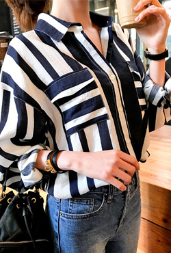 Striped Rayon Shirt