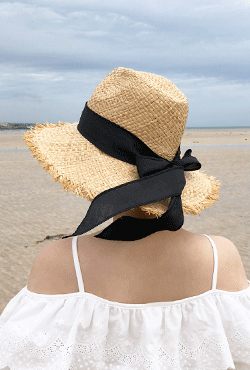 [SUMMER VELY] Ribbon Hatband Straw Hat