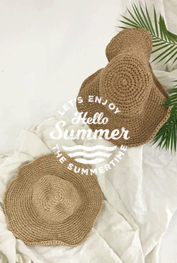 [SUMMER VELY] Floppy Straw Hat