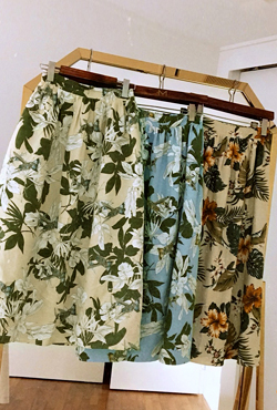 Tropical Print Flared Skirt