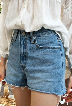 Frayed Hem Mini Cutoff Shorts