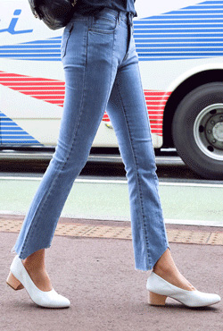 Cut Ankles Slim Jeans