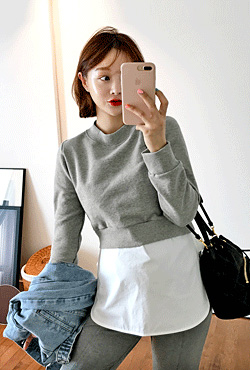 Cropped Sweatshirt and Sleeveless Top Set