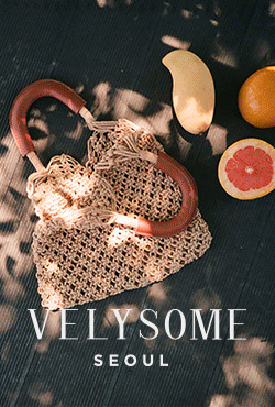 [VELYSOME] Knitted Net Bag