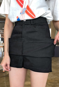 Concealed Fly Five Pocket Skort