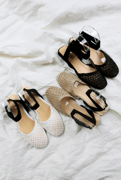 Elastic Ankle Strap Flats