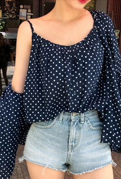 Dotted Sleeveless Top and Cardigan Set