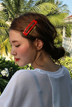 Colored Snap Hair Clip