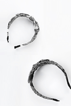 Ribbon Accent Printed Hair Band