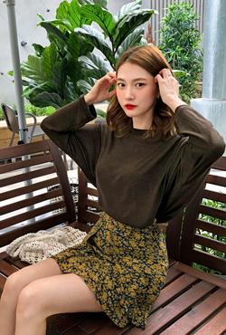 Loose Fit Dolman Sleeve T-Shirt