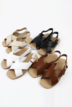 Cross Strap Slingback Sandals