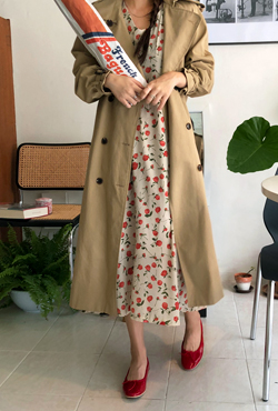 Double-Breasted Midi Trench Coat