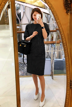 Dotted Sheath Dress