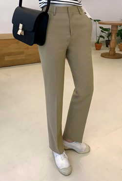 Side Pocket Solid Tone Slacks