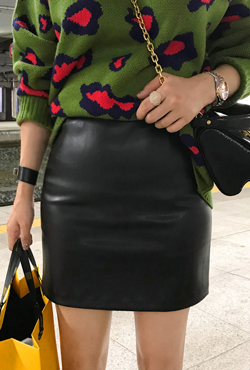 H-Line Pleather Mini Skirt