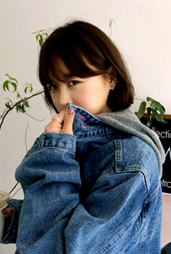 [THX,V] NO.603 Embroidered Collar Denim Jacket