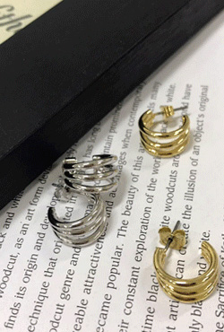 Layered Huggie Earrings