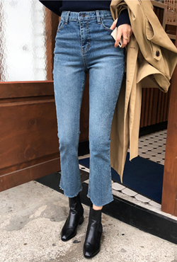 Whiskered Bootcut Jeans