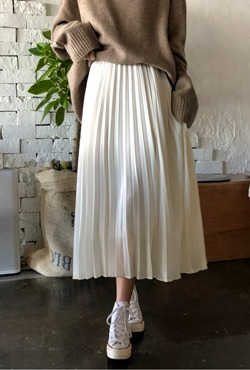 Pleated Midaxi Skirt