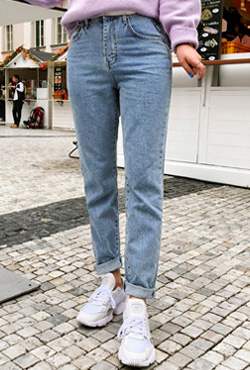 Raw Hem High Rise Jeans