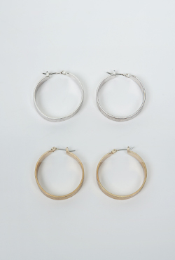 Latch Back Hoop Earrings