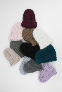 Ribbed Woolen Beanie