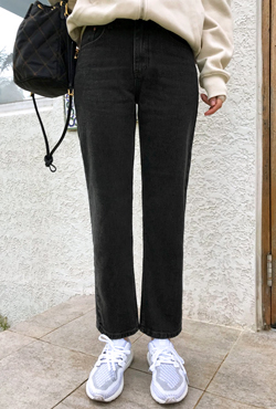 Straight Ankle-Length Jeans
