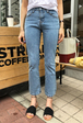Straight Cut Ankle Grazer Jeans