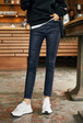 High Waist Coated Slim Jeans