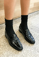 Glossy Penny Loafers