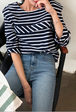 Layered Yoke Stripe T-Shirt