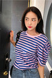Puff Sleeve Striped T-Shirt