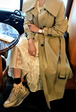 Wide Collar Belted Trench Coat