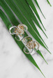 Clear Flower Stud Earrings