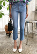 Whiskered Crop Jeans